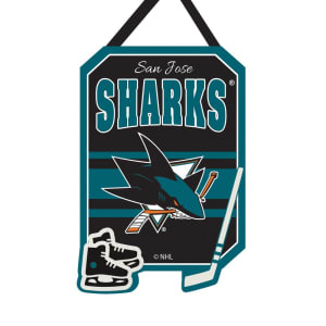 """San Jose Sharks 20"""" x 16"""" Felt Door Decor Wall Banner"""