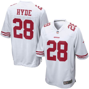 Carlos Hyde San Francisco 49ers Nike Game Jersey - White