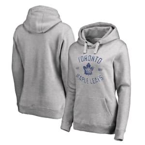 Toronto Maple Leafs Women's Heritage Pullover Hoodie - Ash