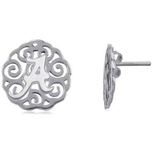 Alabama Crimson Tide Dayna Designs Women's Filigree Post Earrings - Silver