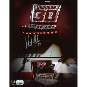 "Martin Brodeur New Jersey Devils Fanatics Authentic Autographed 8"" x 10"" Jersey Retirement Night Banner Raising Photograph"