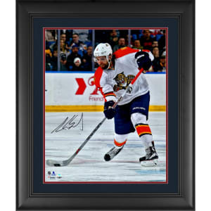 """Aaron Ekblad Florida Panthers Fanatics Authentic Framed Autographed 16"""" x 20"""" White Jersey Shooting Photograph"""