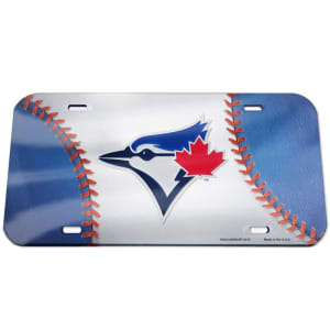 Toronto Blue Jays WinCraft Ball Crystal Mirror License Plate