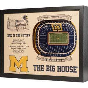 "Michigan Wolverines 25.5"" x 19.5"" Michigan Stadium Stadium Views Wall Art"