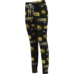 Iowa Hawkeyes Concepts Sport Women's Sweep All Over Print Pajama Pants - Black
