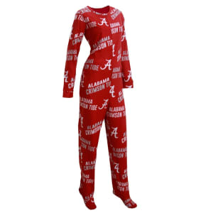 Alabama Crimson Tide Concepts Sport Women's Wildcard Allover Print Fleece Union Suit - Crimson