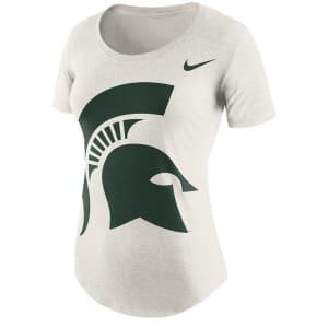 Michigan State Spartans Nike Women's Nameplate Boyfriend Tri-Blend T-Shirt - Cream