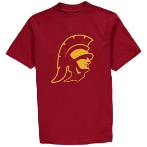 USC Trojans Youth Trojan Head Logo T-Shirt - Cardinal