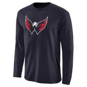 Washington Capitals Fanatics Branded Alternate Logo Long Sleeve T-Shirt - Navy