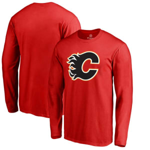 Calgary Flames Fanatics Branded Primary Logo Long Sleeve T-Shirt - Red