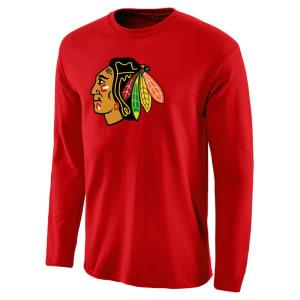 Chicago Blackhawks Rinkside Fan Big Primary Logo Long Sleeve T-Shirt - Red