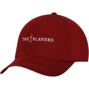 THE PLAYERS Ahead Lightweight Solid Adjustable Hat - Crimson