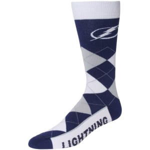 Tampa Bay Lightning For Bare Feet Argyle Crew Socks