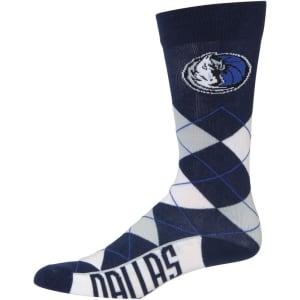 Dallas Mavericks For Bare Feet Argyle Crew Socks