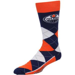 Edmonton Oilers For Bare Feet Argyle Crew Socks
