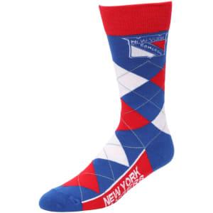 New York Rangers For Bare Feet Argyle Crew Socks