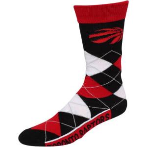 Toronto Raptors For Bare Feet Argyle Crew Socks