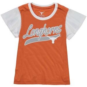 Texas Longhorns Girls Youth Verona Mesh Sleeve T-Shirt - Texas Orange