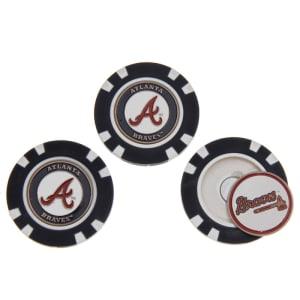 Atlanta Braves 3-Pack Poker Chip Golf Ball Markers