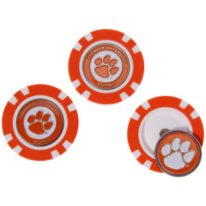 Clemson Tigers 3-Pack Poker Chip Golf Ball Markers