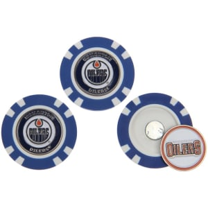 Edmonton Oilers 3-Pack Poker Chip Golf Ball Markers