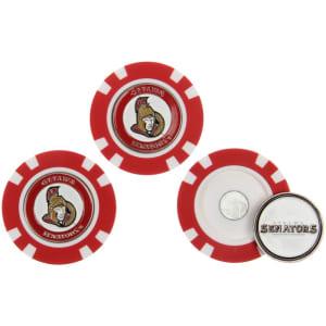 Ottawa Senators 3-Pack Poker Chip Golf Ball Markers