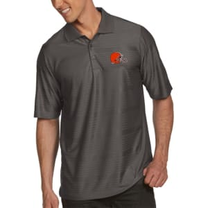 Cleveland Browns Antigua Illusion Xtra-Lite Polo - Charcoal