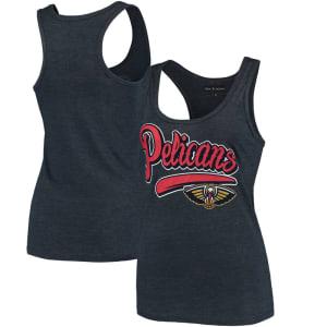 New Orleans Pelicans New Era Women's Tri-Blend Tank Top - Heathered Navy
