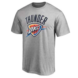 Oklahoma City Thunder Primary Logo T-Shirt - Gray