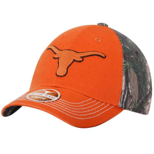 Texas Longhorns New Era Big Game Structured Adjustable Hat - Texas Orange/Realtree Camo