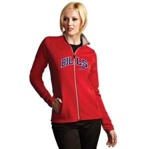 Buffalo Bills Antigua Women's Leader Full Chest Graphic Desert Dry Full-Zip Jacket - Red