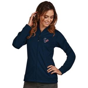 Houston Texans Women's Antigua Full-Zip Golf Jacket - Navy