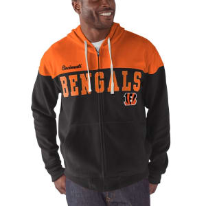 Cincinnati Bengals G-III Sports by Carl Banks First Down Polar Fleece Full-Zip Hoodie - Black