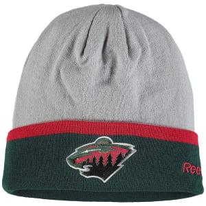 Minnesota Wild Reebok Team Logo Cuffed Knit Hat - Gray