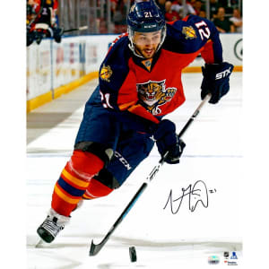 """Vincent Trocheck Florida Panthers Fanatics Authentic Autographed 16"""" x 20"""" Vertical Skating With Puck Photograph"""