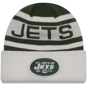 New York Jets New Era Youth Biggest Fan 2.0 Cuffed Knit Hat - Green/White