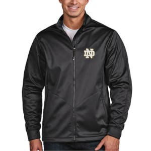 Notre Dame Fighting Irish Antigua Golf Full-Zip Jacket - Charcoal