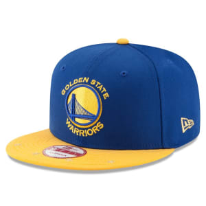 Golden State Warriors New Era Current Logo Star Trim Commemorative Champions Snapback Adjustable Hat - Royal/Gold