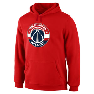 Washington Wizards Fanatics Branded Primary Logo II Pullover Hoodie - Red