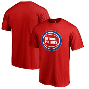 Detroit Pistons Primary Logo T-Shirt - Red