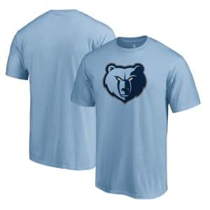 Memphis Grizzlies Primary Logo T-Shirt - Light Blue