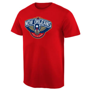 New Orleans Pelicans Primary Logo T-Shirt - Red