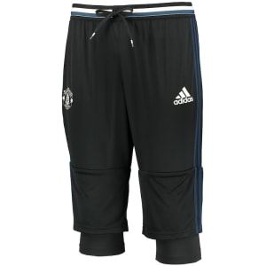 Manchester United adidas climalite Three-Quarter Length Training Pants - Black