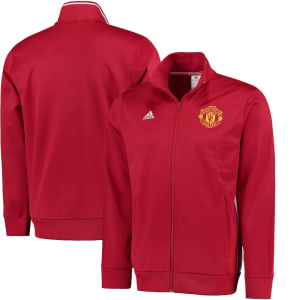 Manchester United adidas 3S Full-Zip Track Jacket - Red