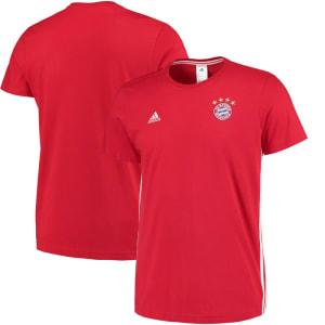 Bayern Munich adidas 3-Stripe T-Shirt - Red