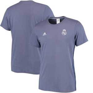 Real Madrid adidas 3-Stripe T-Shirt - Purple