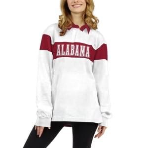 Alabama Crimson Tide chicka-d Women's Long Sleeve Rubgy T-Shirt - White