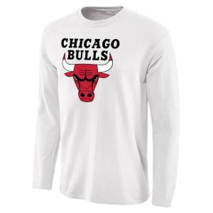 Chicago Bulls Fanatics Branded Primary Logo Long Sleeve T-Shirt - White