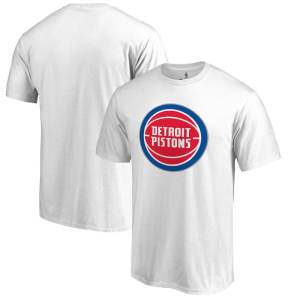 Detroit Pistons Fanatics Branded Primary Logo T-Shirt - White