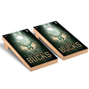 Milwaukee Bucks 2' x 4' Metal Design Cornhole Game Set